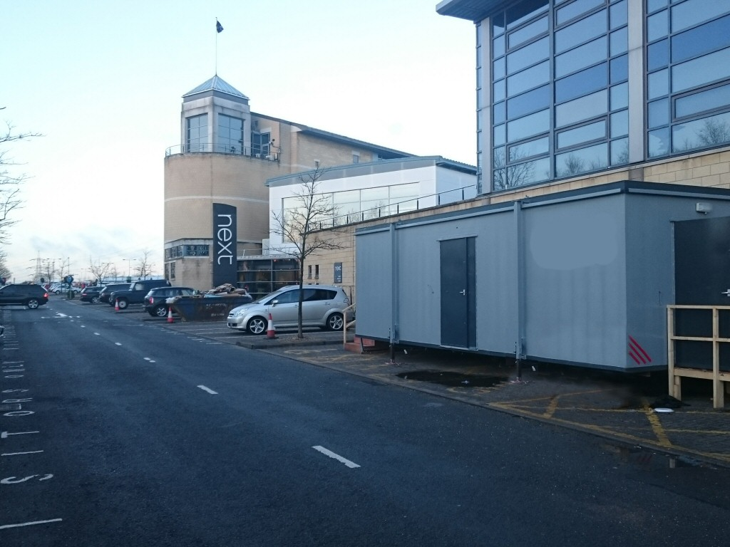 A temporary catering facility at Next headquarters in Leicester whilst existing kitchens were refurbished.